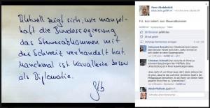 """Peer Steinbrück Zitat """"Manchmal ist Kavallerie besser als Diplomatie"""""""