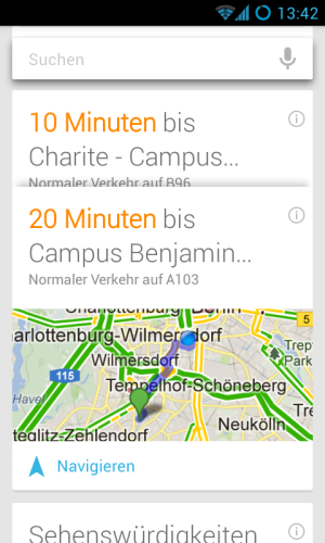Google Know Karte Routenplanung