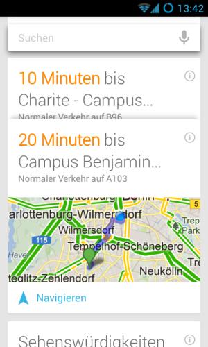 Google Know Karte Routenplanung