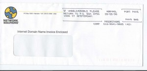 Briefumschlag von Network Solutions