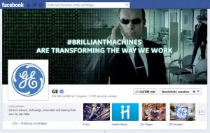 """""""Agent Smith"""" als Protagonist auf der Facebook-Seite von GE"""