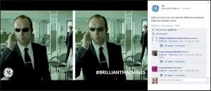 Ratespiel mit Agent Smith auf der Facebook-Seite von GE