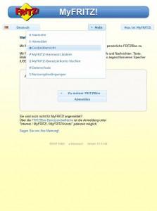 MyFRITZ-Startseite