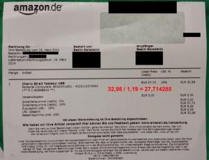 Rundungsfehler in Amazon.de-Rechnung