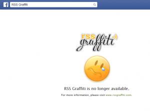 Das Ende von RSS Graffiti auf Facebook