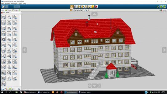 Die Schwarzwaldklinik aus LEGO vorn